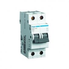 Автоматический выключатель Hager In10 А, 2п, С, 6 kA, 2м (MC210A)