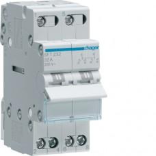 Переключатель трехпозиционный 230В/32А, 2-полюсный, 2м SFT232