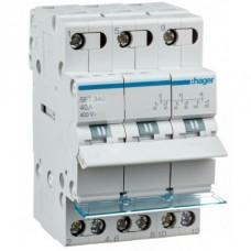 Переключатель трехпозиционный 400В/40А, 3-полюсный, 3м SFT340