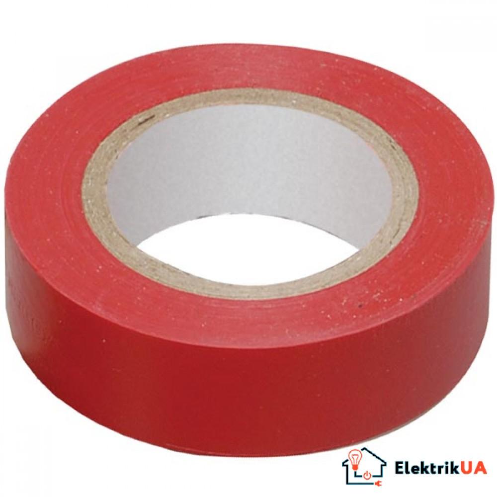 Изолента 0,13х15мм красная 10 метров IEK