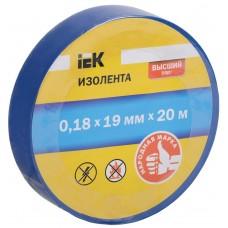 Изолента 0,18х19 мм  20 синяя IEK