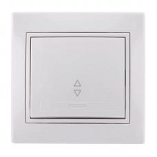 Выключатель проходной белый Lezard Mira 701-0202-105
