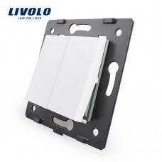 Двухклавишный выключатель Livolo, цвет белый (VL-C7-K2-11)