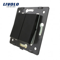 Двухлавишный выключатель Livolo, цвет черный (VL-C7-K2-12)