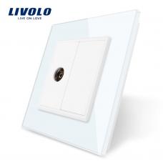 TV розетка Livolo белая (VL-C791V-11)