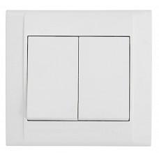 Выключатель 2-х клавишный Makel Defne Белый (42001003)
