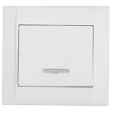 Выключатель с подсветкой Makel Defne Белый (42001021)