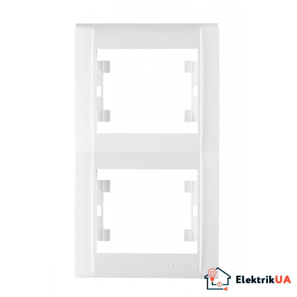 Двойная рамка вертикальная Makel Defne Белая (42001707)