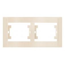 Двойная рамка горизонтальная Makel Defne Крем (42010702)