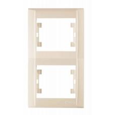 Двойная рамка вертикальная Makel Defne Крем (42010707)