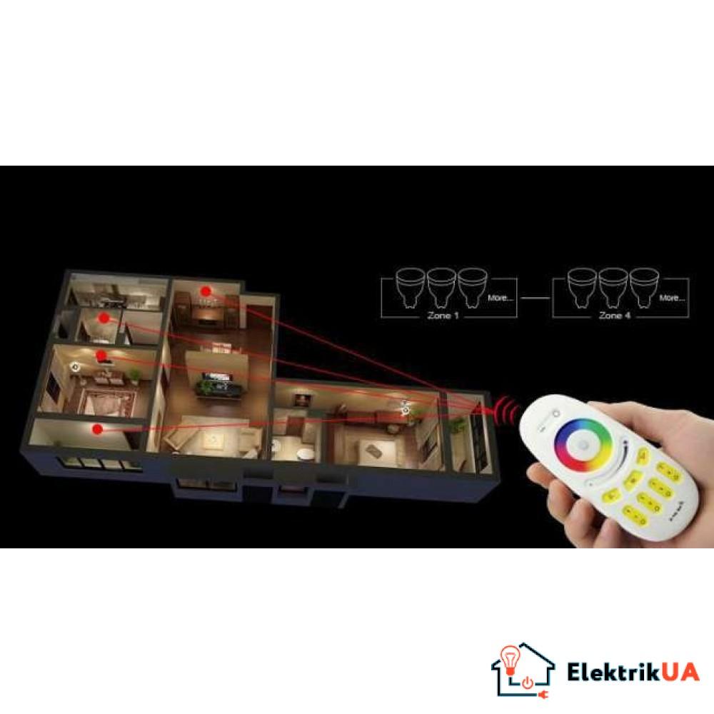 RL096-RGB 4-хзонный Touch пульт управления RGB+RGBW Mi-Light