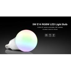 LED лампа 5 Вт, Е14, 2700K+RGB, RF 2,4 GHz дистанционное управление LL013-WW RGBW