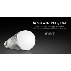 LED лампа 9 Вт, Е27, 2700-4200К, RF 2,4 GHz дистанционное управление Mi-Light LL019-CWW