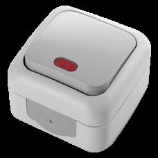 Выключатель с подсветкой VIKO Palmiye серый (90555519)