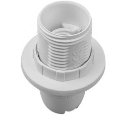 Патрон LEMANSO Е14 пластиковый / резьба+кольцо / белый / LM106