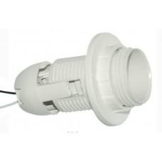Патрон LEMANSO Е27 пластиковый / резьба+кольцо / провода 15 см / LM101