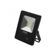 Прожектор 10W 220V IP65 6500K LED  чёрный (пл.)