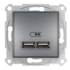 USB розетка 2, 1А Schneider Electric Asfora  Сталь EPH2700262