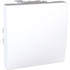 Выключатель одноклавишный проходной 2 модуля Schneider Electric 10А Unica Белый MGU3.203.18