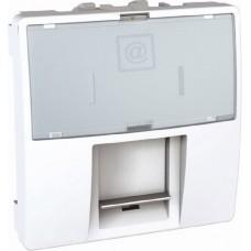 Розетка компьютерная RJ45 cat5e UTP 2 модуля Schneider Electric Unica Белый MGU3.411.18