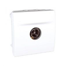 Розетка телевизионная конечная 2 модуля Schneider Electric Unica Белый MGU3.464.18