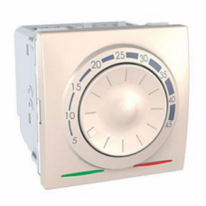 Терморегулятор для теплого пола с датчиком 2 модуля Schneider Electric Unica 10А Слоновая кость MGU3.503.25