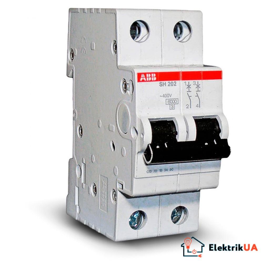Автоматический выключатель ABB SH202-В  16A