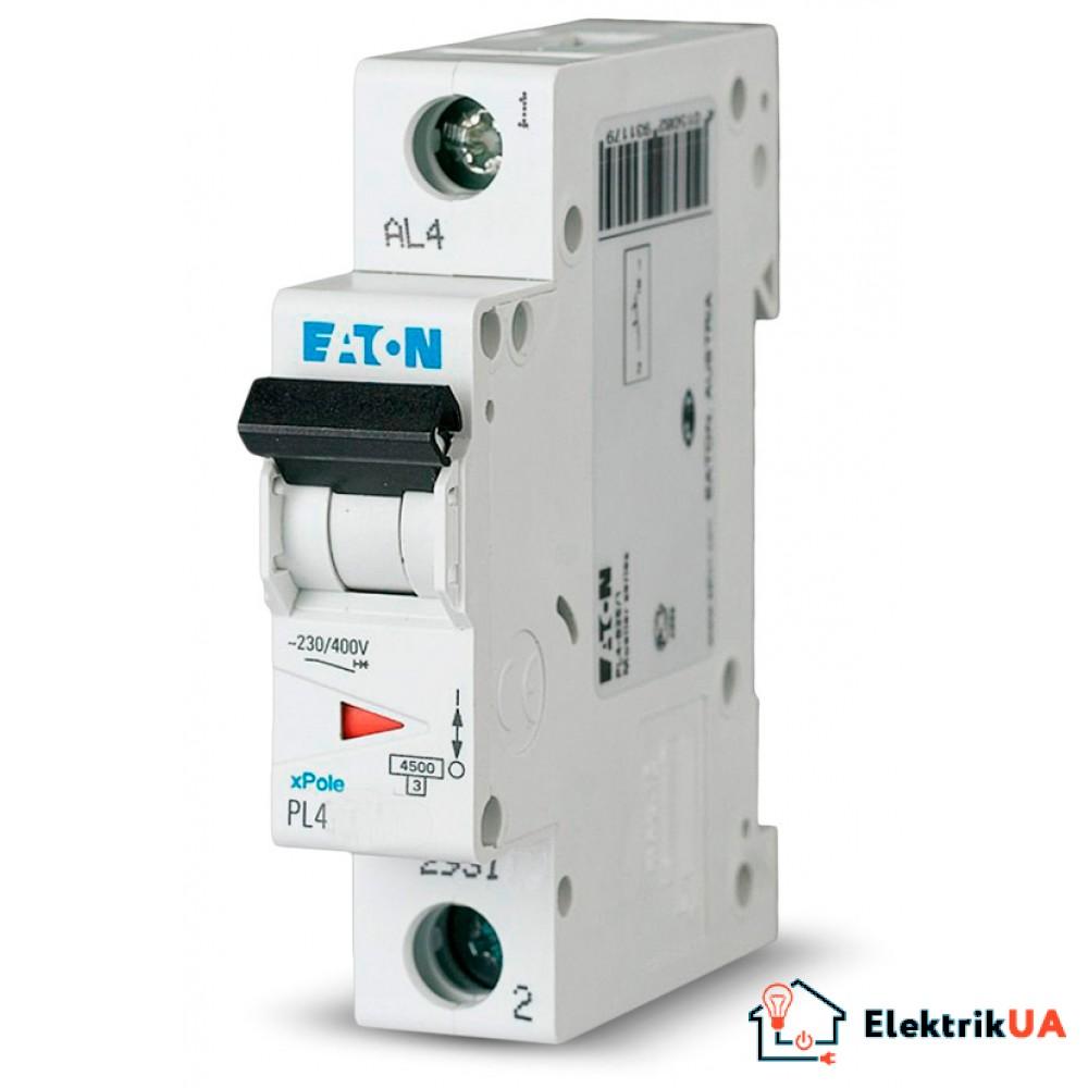 Автоматический выключатель EATON PL4 C10 1p (293123)
