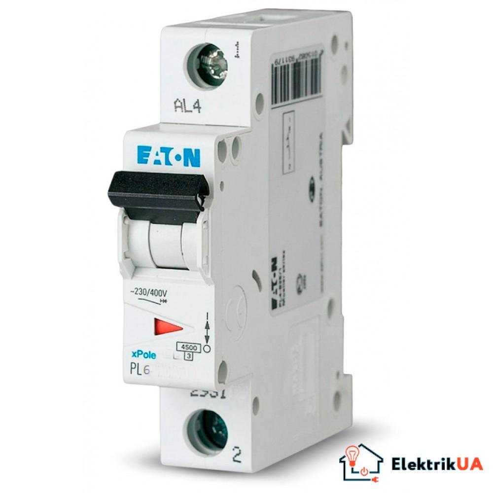 Автоматический выключатель EATON  PL6 C10 1p (286531)