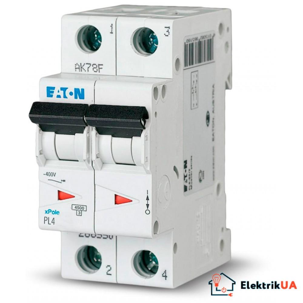 Автоматический выключатель EATON  PL4 C10 2p (293141)