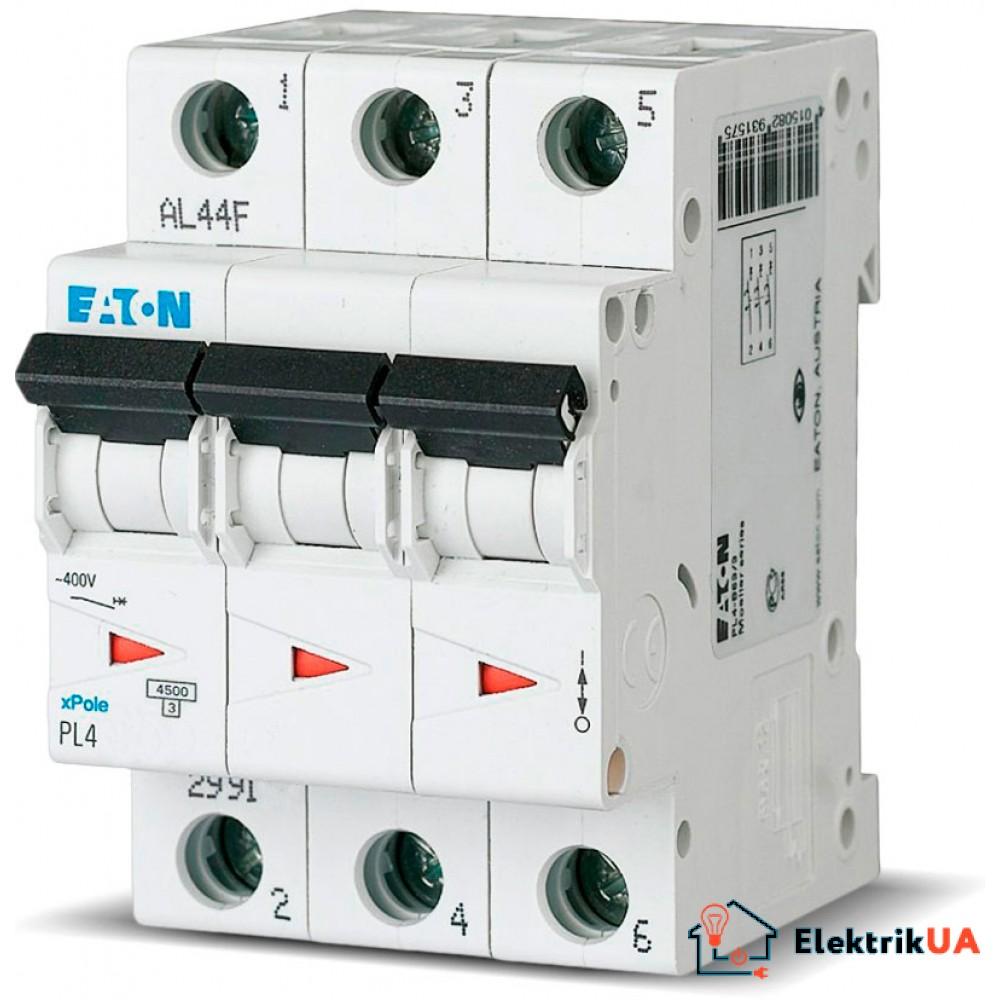 Автоматический выключатель EATON  PL4 C40 3p (293164)