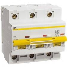 Выключатель автоматический IEK ВА47-100 3p C 100A 10kA (MVA40-3-100-C)