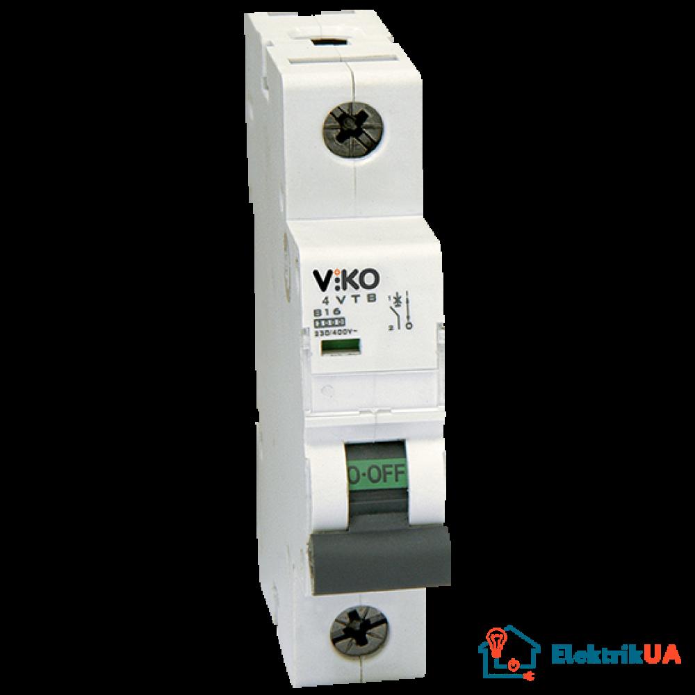 Автоматический выключатель Viko, 1P, C, 63A, 4,5kA (4VTB-1C63)