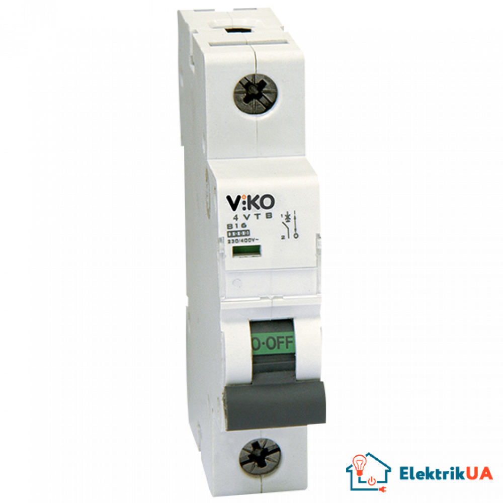 Автоматический выключатель Viko, 1P, C, 10A, 4,5kA (4VTB-1C10)