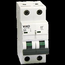 Автоматический выключатель Viko, 2P, C, 10A, 4,5kA (4VTB-2C10)