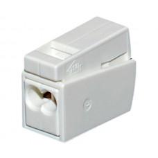 Клемма WAGO на 2 провода с нажимными рычагами для подключения светильников с пастой (224-122)