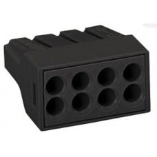 Клемма WAGO на 8 проводов самозажимная пружинная с пастой для распределительных коробок (773-308)