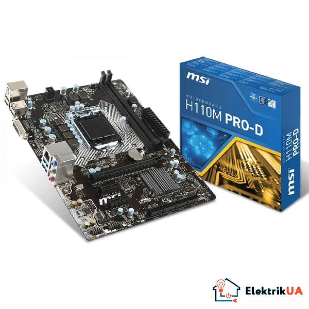 Материнская плата MSI s1151 H110 H110M PRO-D