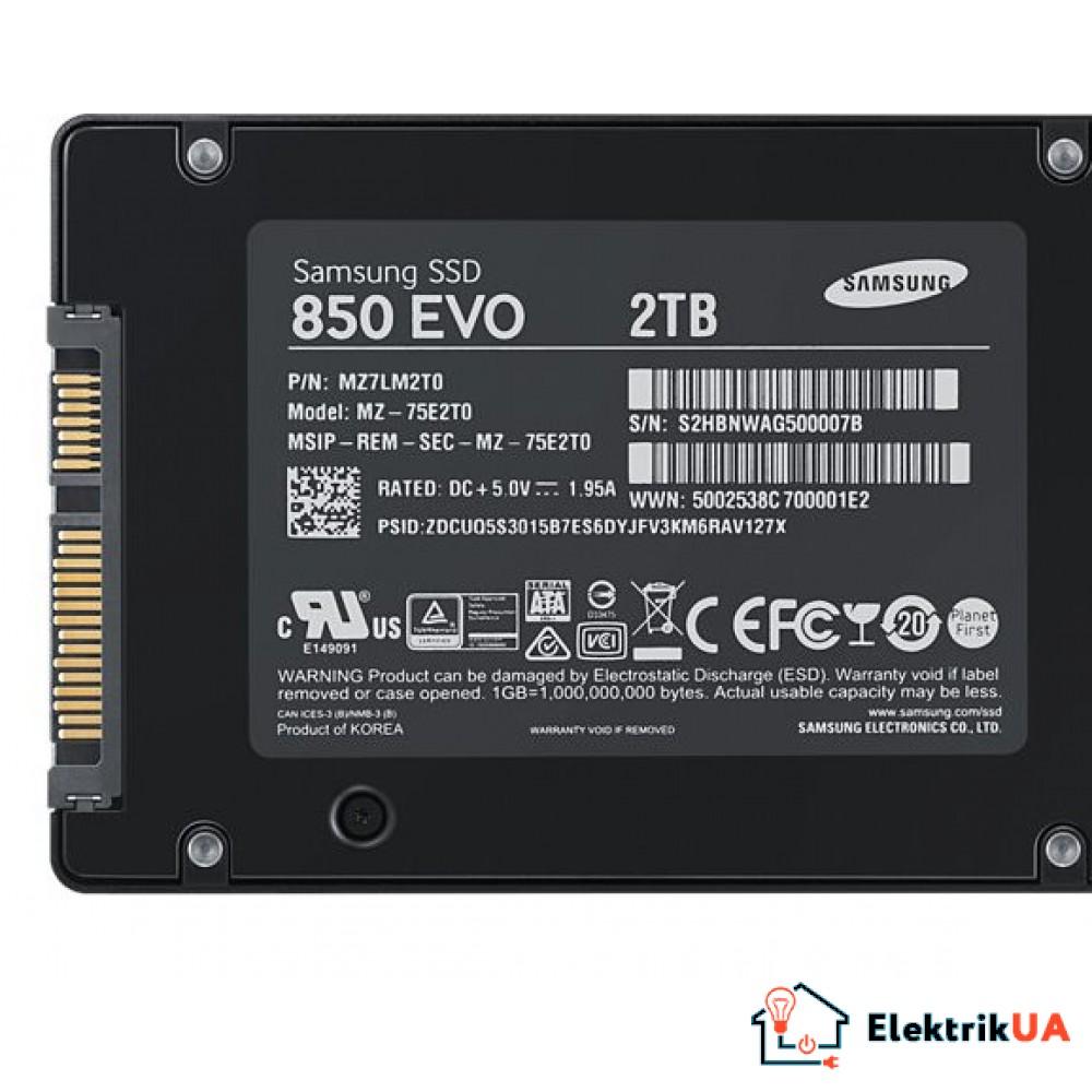 SSD накопитель Samsung 850 EVO 2TB SATAIII TLC
