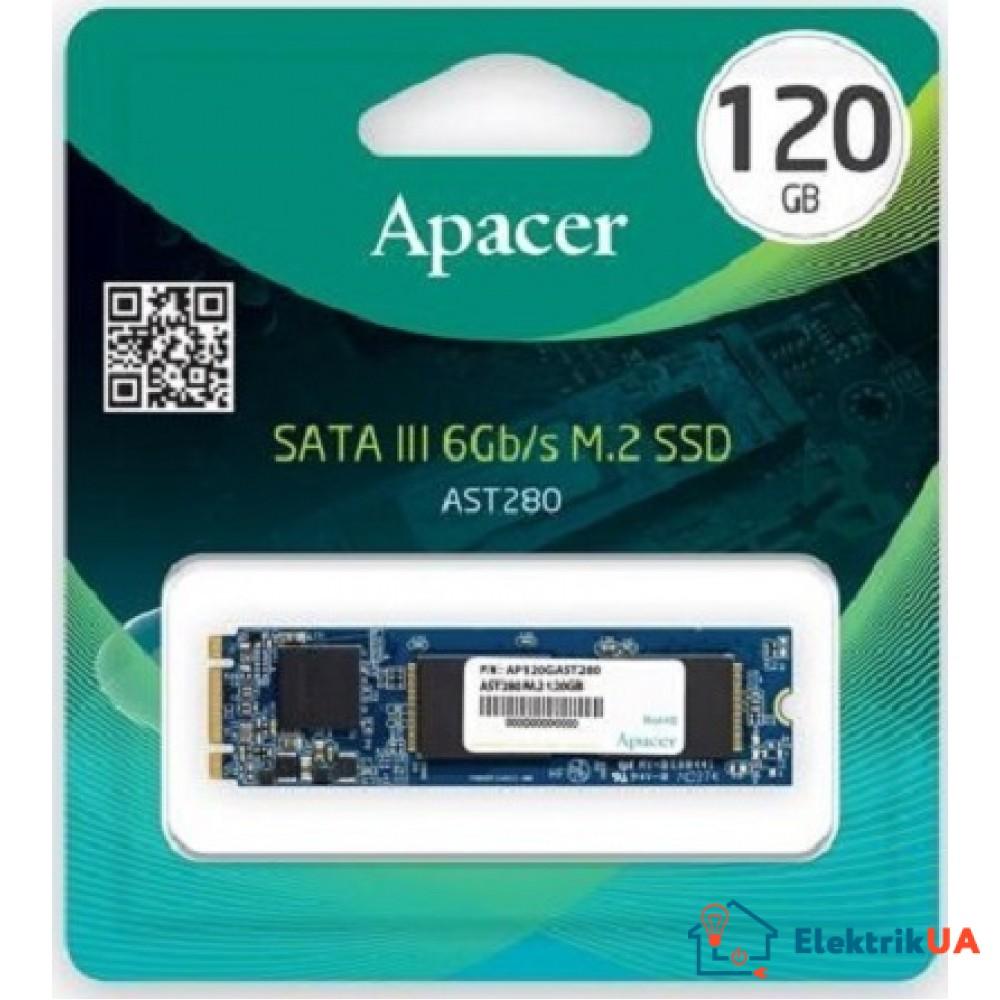 SSD накопитель APACER AST280 120GB M.2 SATA TLC (AP120GAST280-1)