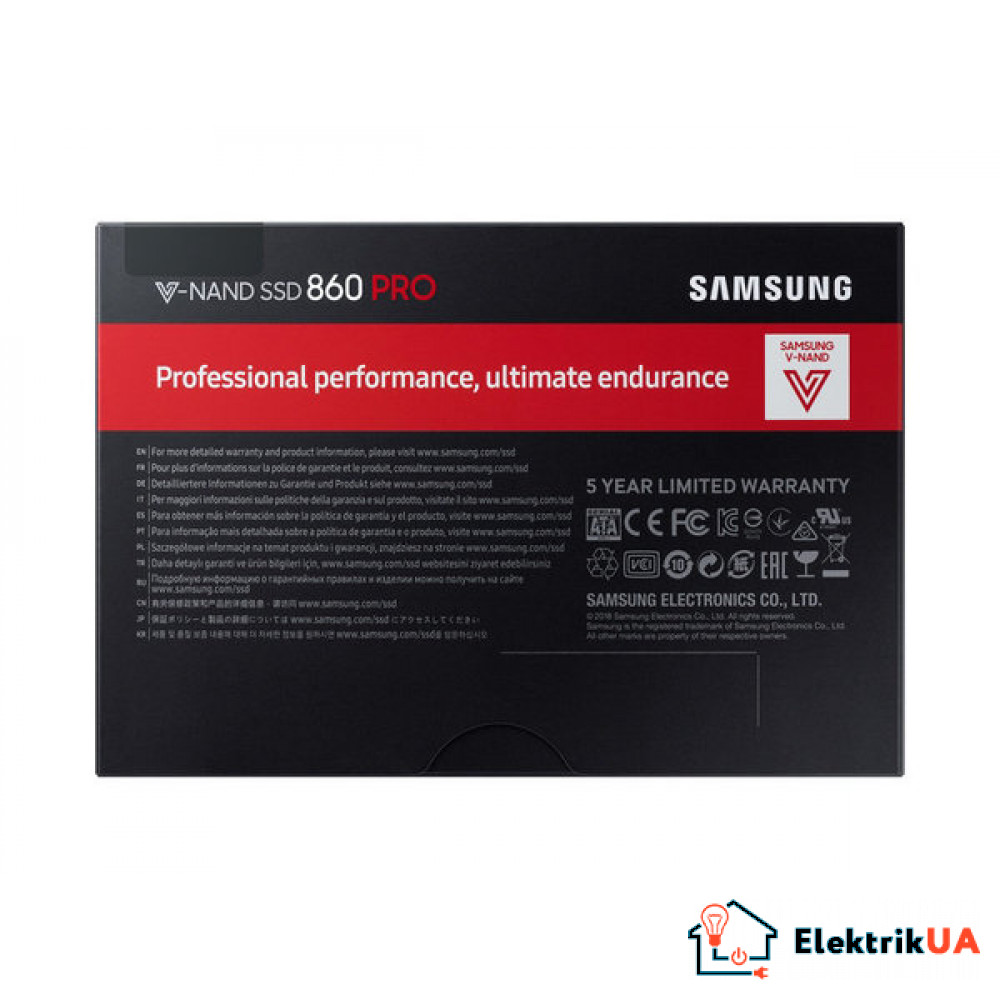SSD накопитель Samsung 860 PRO 256GB SATAIII MLC (MZ-76P256BW)