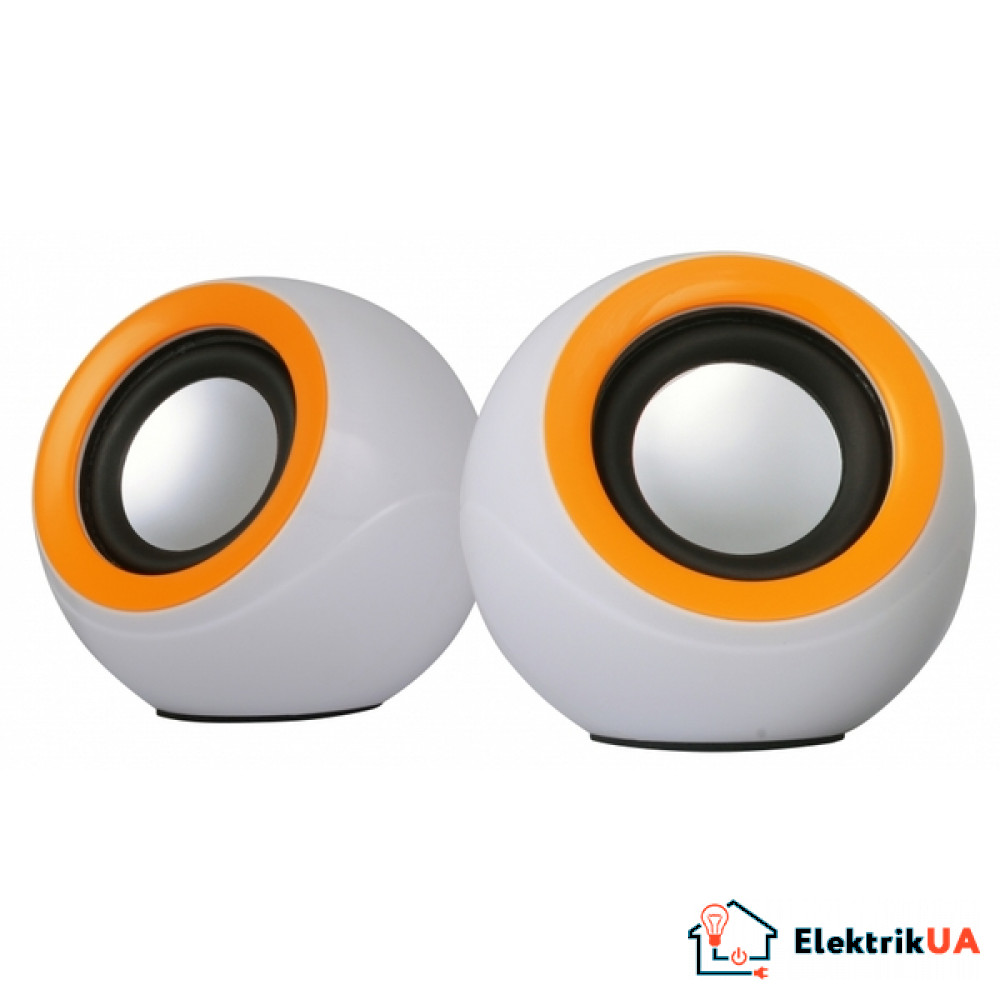 Аккустика Omega 2.0 OG-116B white orange 2x3W USB