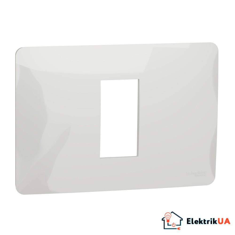 Рамка 1 модульна Unica Studio біла