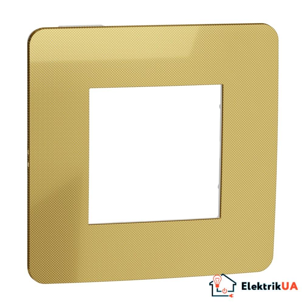 Рамка 1-постова, Золото/білий