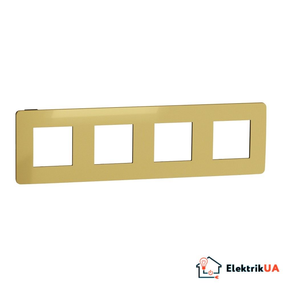 Рамка 4-постова, Золото/антрацит