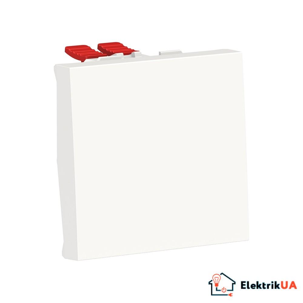 Перемикач 1-клавішний перехресний схема 7, 10А, 2 модулі білий