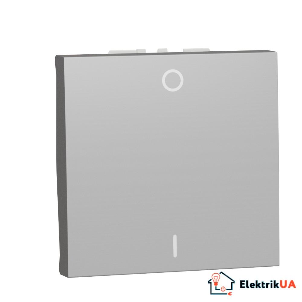 Двополюсний вимикач 16А 2 модуль алюміній
