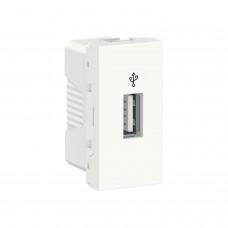 USB-коннектор 1 модуль білий