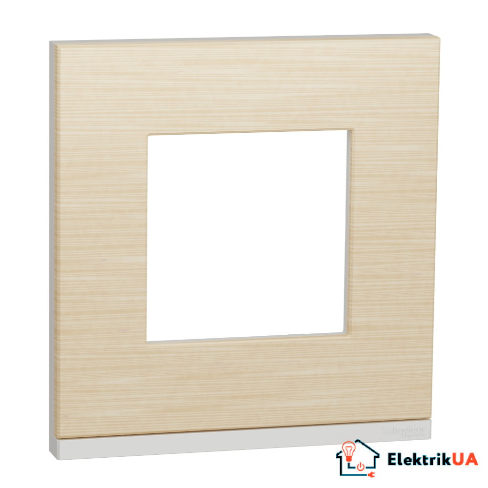 Рамка 1-постова, горизонтальна, Клен/білий