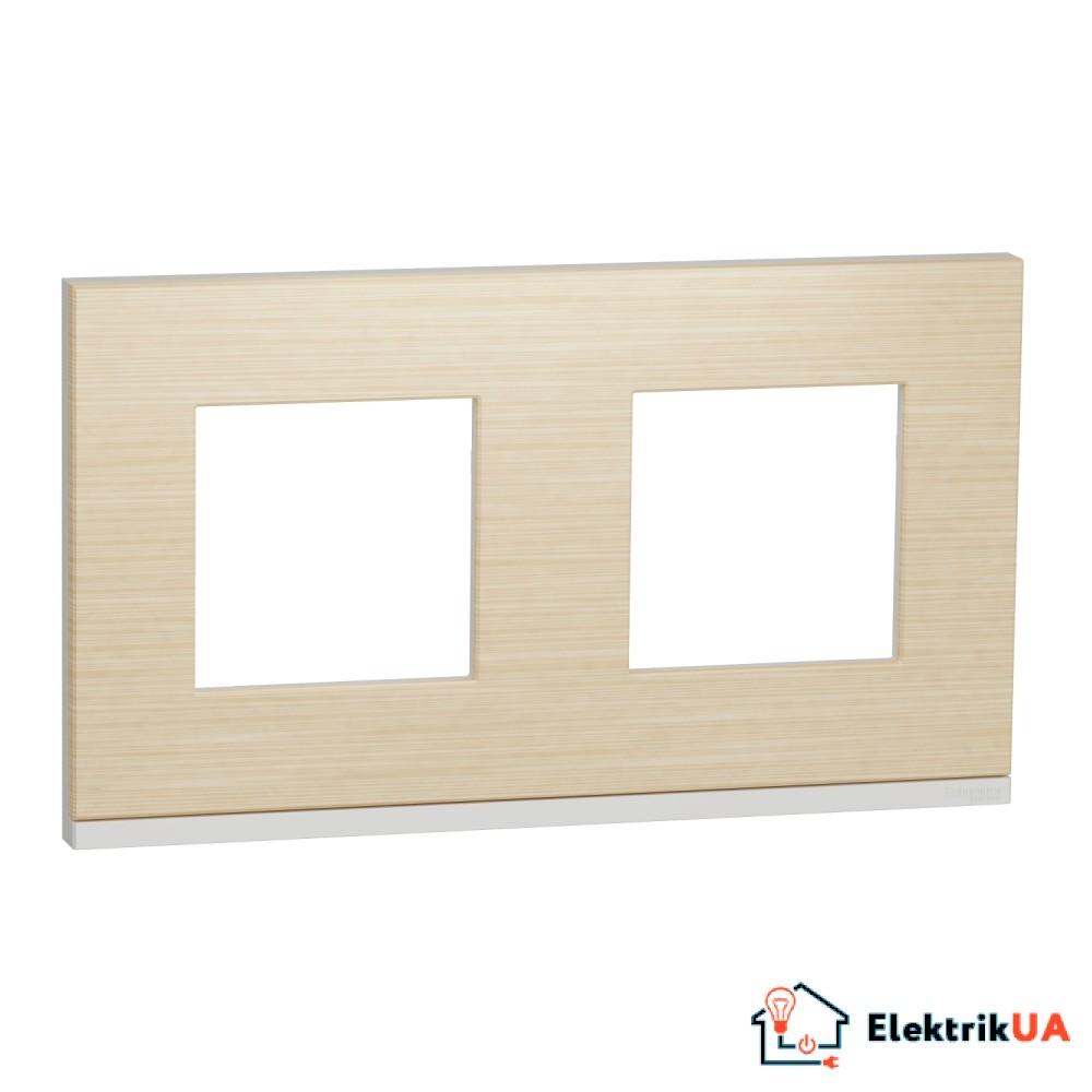 Рамка 2-постова, горизонтальна, Клен/білий
